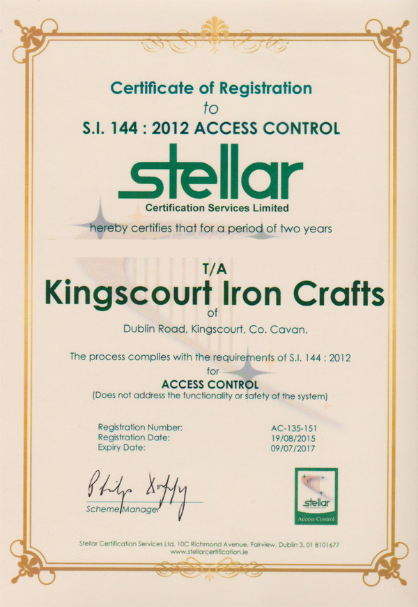 Automatic Systems Kingscourt Iron Crafts